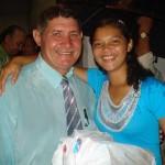 Pastor João Gomes e a aniversariante