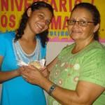 Paula e sua mãe Maria do Espírito Santo
