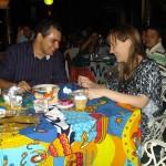 Durante o evento e jantar