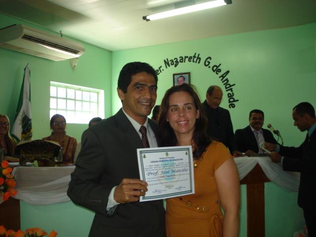 José Marcílio e sua esposa Márcia Cristina