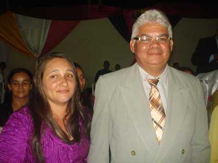 Dirigente: Pr. João Batista Pereira de Sousa e esposa Adriana