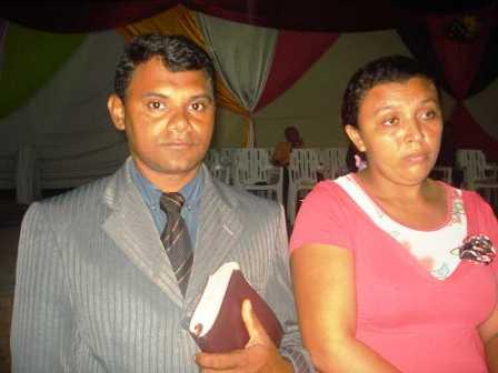 Dirigente: Evangelista Francisco e esposa