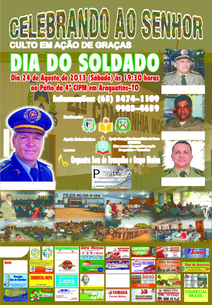 Dia do Soldado - Cartaz