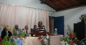 ARAGUATINS: Missionária Analice Vieira realiza culto em Ação de Graças na congregação Vale da Bênção.