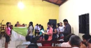 ARAGUATINS: Jovens da AD CIADSETA se reúnem em culto festivo realizado na Congregação Filadélfia