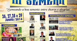 ARAGUATINS-TO: Assembleia de Deus CIADSETA em Vila Falcão promoverá agora em junho, o 3º SEMEAR; confira.