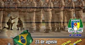 ARAGUATINS: Capelania Militar Evangélica da 4ª CIPM realizará celebração alusiva ao Dia do Soldado