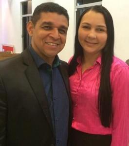 Presidente do COMADEBIP Humberto Santana e Miss Vânia Villar