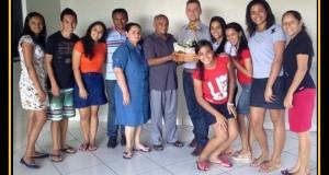 ARAGUATINS (TO): Mocidade faz visita ao Pr José Ribamar e Miss Maria do Socorro.