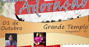 ARAGUATINS: Confirmado. Pr. Ângelo Galvão e cantora Lucely Uchôa estarão dia 1 de outubro na quarta de adoração.