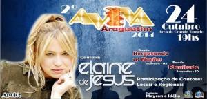 ARAGUATINS: Elaine de Jesus (SP) será a cantora oficial do 2º Aviva Araguatins 2014 na AD CIADSETA. CONFIRA