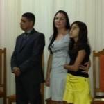 Casal e a filha Grazielle