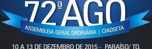 PALMAS: Convenção CIADSETA estará promovendo agora em dezembro sua 72ª AGO. Confira Edital de Convocação.