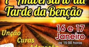 ARAGUATINS: Congregação Betel realizará o 7º aniversário da Tarde da Benção com a presença do Pastor Israel Brasil.
