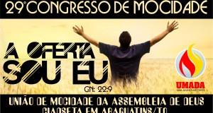 ARAGUATINS: Departamento de Mocidade realizará o 29º Congresso com a participação da Pastora Celma Lima.
