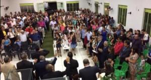 ARAGUATINS: Em noite solene Cláudio Santana e Domingos Coimbra são recebidos na Assembleia de Deus