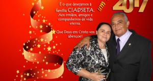 ARAGUATINS: Boas Festas e Feliz 2017, dedicação feita pelo Pr. Ribamar, esposa e família aos membros da AD em Araguatins e CIADSETA