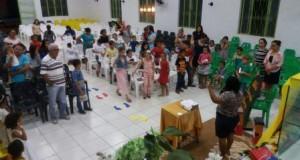 ARAGUATINS: Departamento de Crianças da AD CIADSETA realizou primeiro culto geral do ano