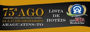 ARAGUATINS: Vem aí. A 75ª Assembleia Geral Ordinária da CIADSETA