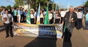 Assembleia de Deus Ciadseta em Araguatins comemorou o Dia Estadual do Evangélico com passeata e carreata pelo Centro da cidade