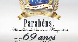 ARAGUATINS: Assembleia de Deus comemora Jubileu de Mercúrio